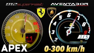2018 Ferrari 812 Superfast vs. Lamborghini Aventador - Acceleration...