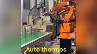 스테인리스 보온병 생산 라인  ステンレス鋼の魔法瓶の生産…