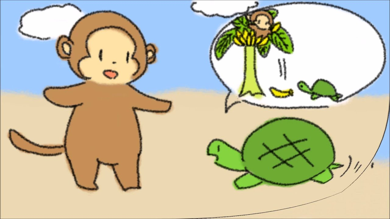 the story of the monkey and the turtle The sea-queen otohime, whom you read of in the story of uraschimatoro, grew   then the turtle said to the monkey, 'if you will be quiet, and do what i tell you,.