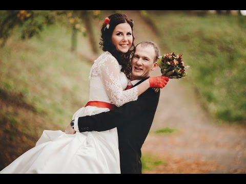 Осенняя свадьба в красном и оранжевом цвете