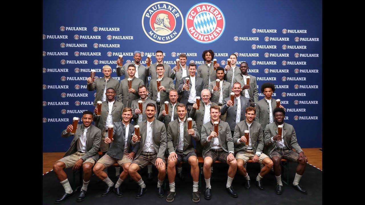 Lederhosen-Shoting beim FC Bayern - ganz exklusiv