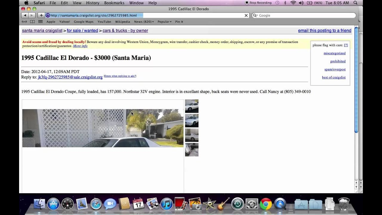 Craigslist santa maria ca used cars suvs and trucks online youtube