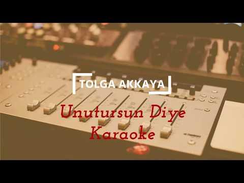 Unutursun Diye _ Elektro Bağlama Tolga Akkaya Karaoke 2017