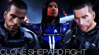 Mass Effect 3 - Clone Shepard Fight (All Characters/Dialogue/Male/Citadel DLC)