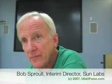 Sun Labs interim director Bob Sproull