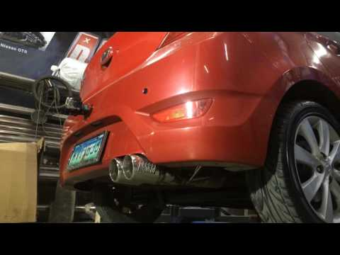 2013 Hyundai Accent Turboback exhaust system and air intake
