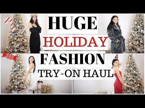 HUGE HOLIDAY CLOTHING HAUL! Party Looks
