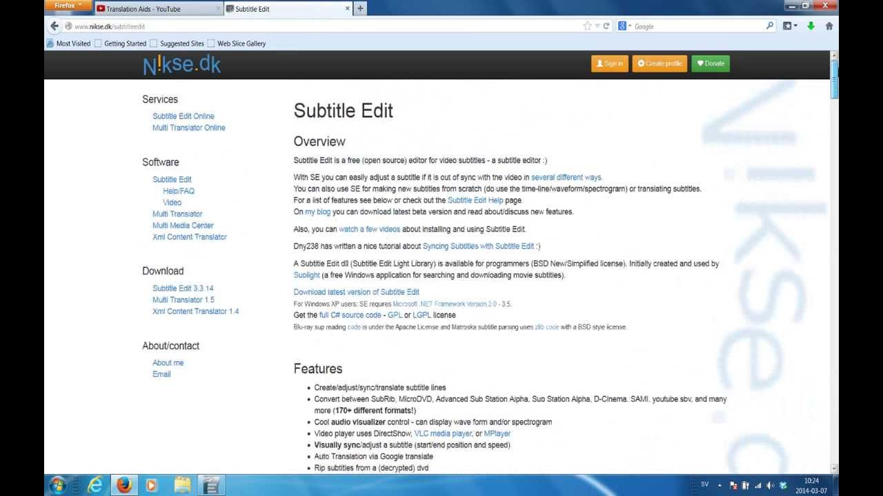 2 Installing Subtitle Edit & placing the correct settings