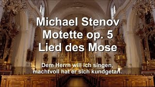 Michael Stenov – Responsorium op. 5 Lied des Mose (Singet dem Herrn ein neues Lied)