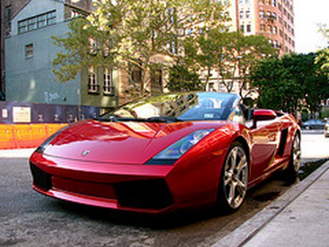 Red Lamborghini Gallardo Spyder , YouTube