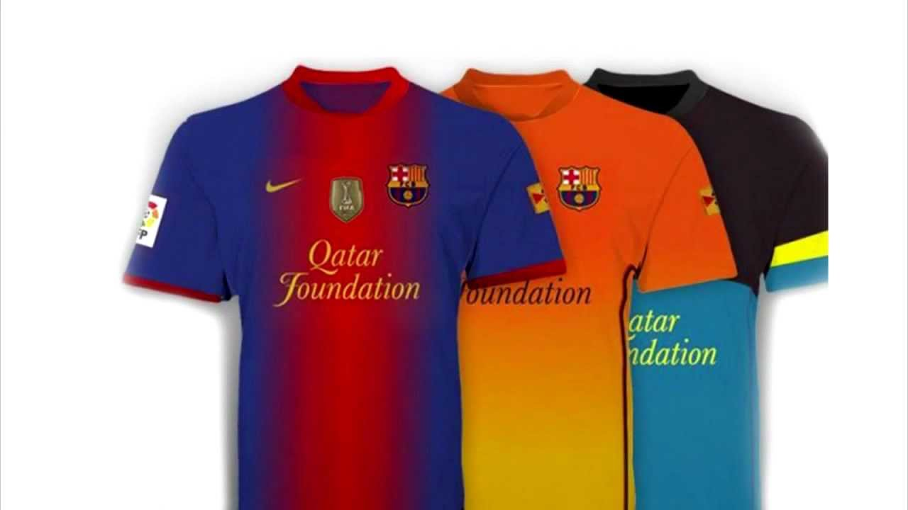 a26235bd0ba FC Barcelona - Home & Away Kit (2012-13) - YouTube