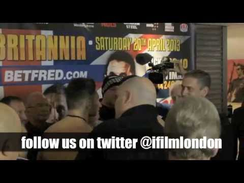 NATHAN CLEVERLY v ROBIN KRASNIQI - OFFICIAL WEIGH IN (WEMBLEY) / RULE BRITANNIA