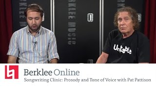 Pat Pattison Returns - Songwriting Clinic - Prosody and Tone of Voice