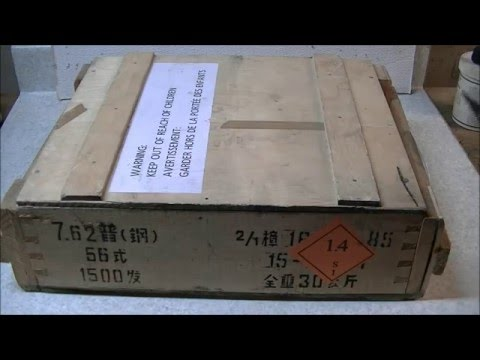 Uncrating Cabela's Chinese 7.62x39mm Ammo