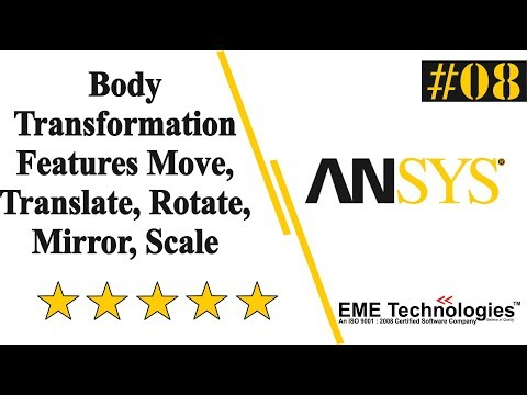Body Transformation Features Move, Translate, Rotate, Mirror, Scale