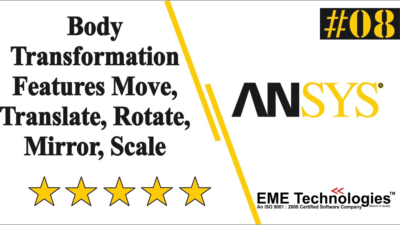 Body Transformation Features Move, Translate, Rotate, Mirror, Scale in Ansys
