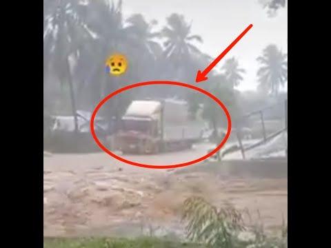 Download Hujan lebat ribut lumpur di Filiphina Cyclone Choiwan di Wilayah Eastern Samar..