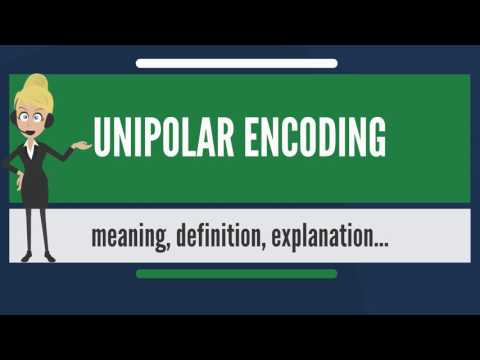 What is UNIPOLAR ENCODING? What does UNIPOLAR ENCODING mean? UNIPOLAR ENCODING meaning & explanation