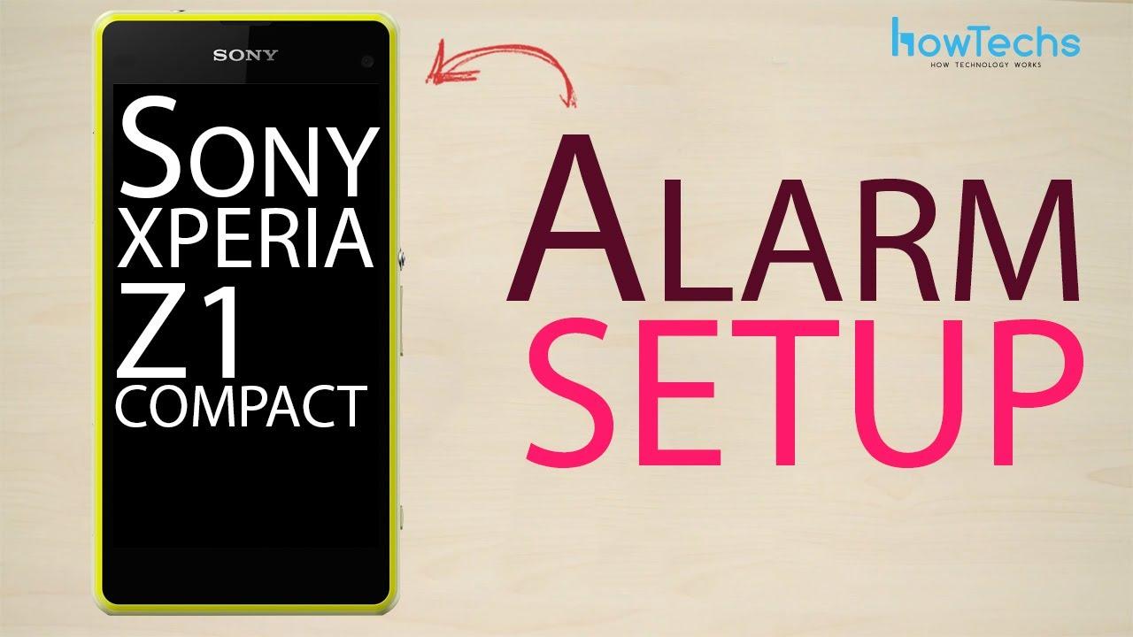how to set alarm on sony xperia