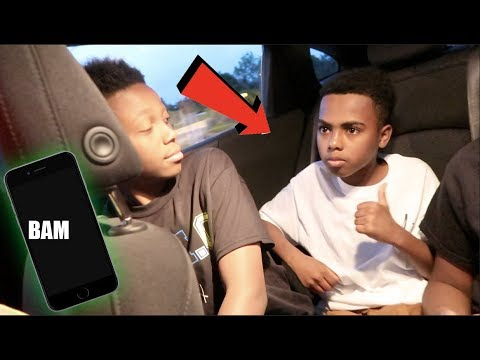SURPRISED BAM BAM WITH AN IPHONE 7.... (TRASHED HIS ANDROID)