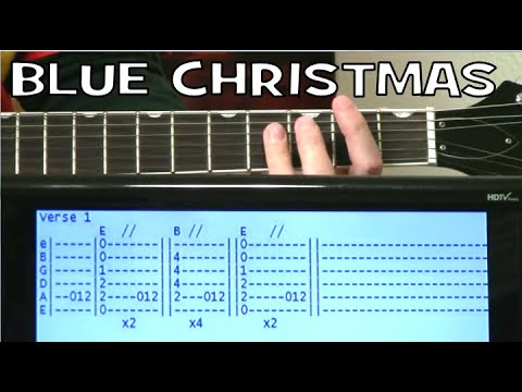 Elvis Presley Blue Christmas Guitar Chords Lesson with Tab