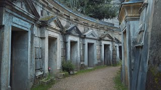 Download Mp3 HIGHGATE CEMETERY Spooky London Walk WEST EAST Famous Graves on Grey Autumn Afternoon