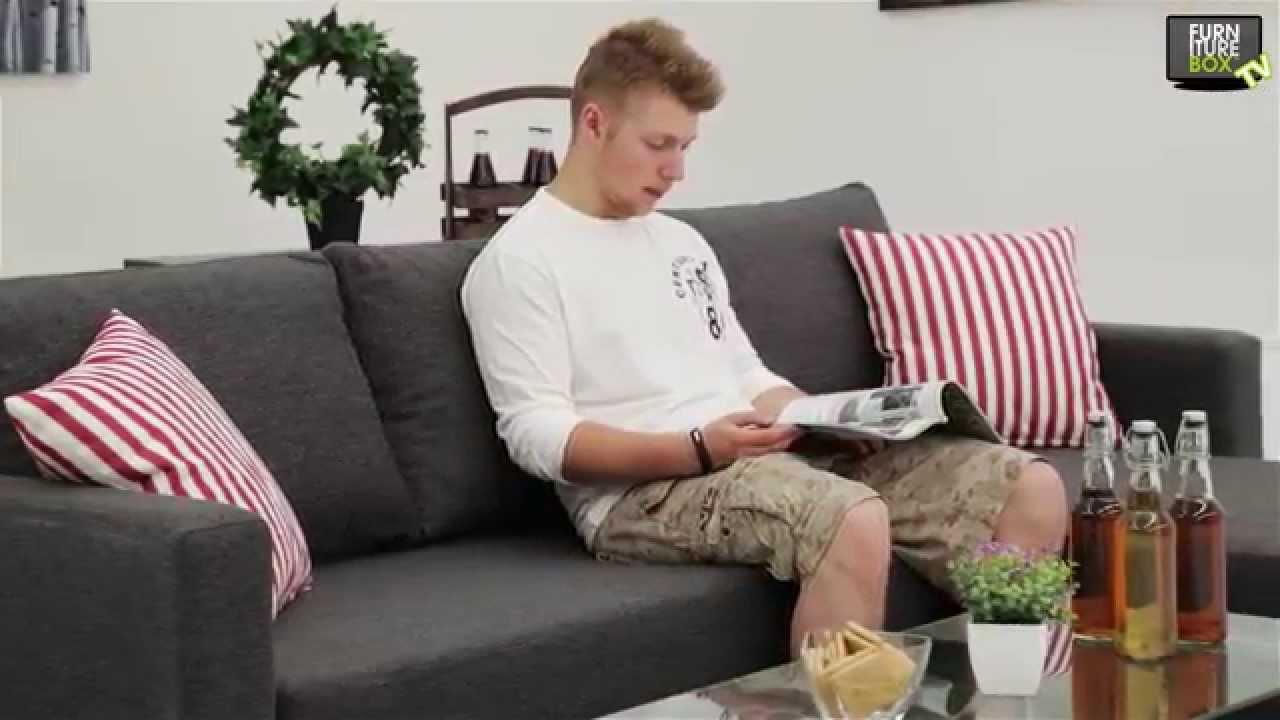 MOOD Bäddsoffa Grå Furniturebox YouTube