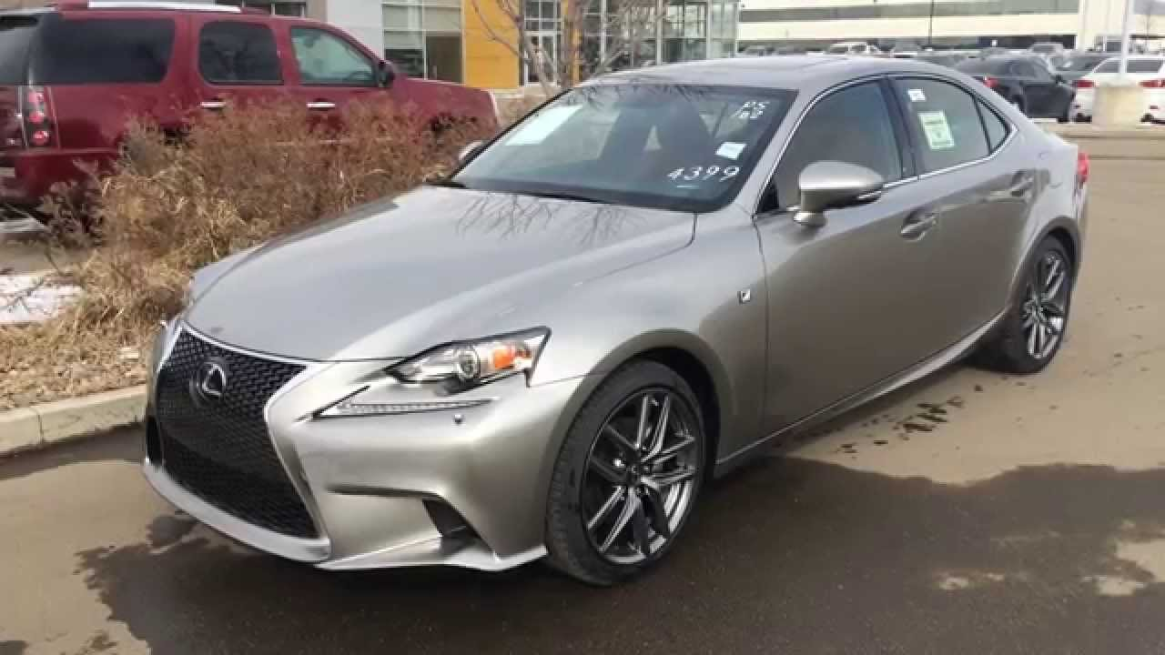 2014 Lexus IS 250 AWD Atomic Silver On Red Executive F