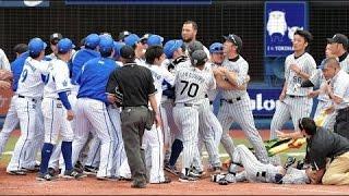 【危険すぎる乱闘総まとめ集】2015年プロ野球