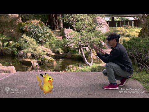 Pokemon Go HoloLens Demo At Microsoft Ignite 2021