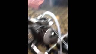 Vespa GL Gran Lusso 1964 engine first run after rebuild