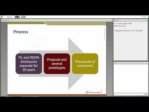 TIL/RESPA Final Rule on Integrated Mortgage Disclosures