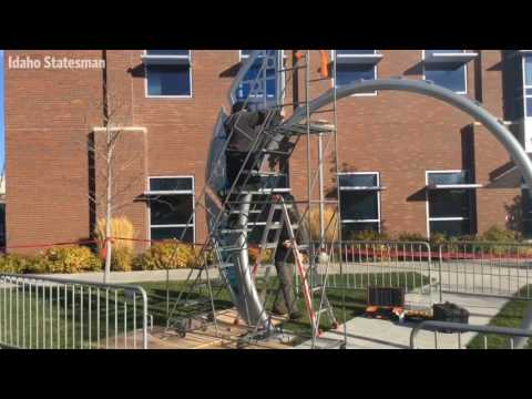 A new geothermal sculpture for Boise State