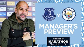 PEP'S PRESS CONFERENCE | EVERTON V MAN CITY | PREMIER LEAGUE
