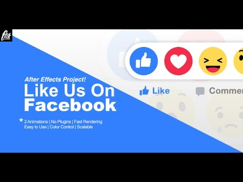 Like Us On Facebook | After Effects template - YouTube