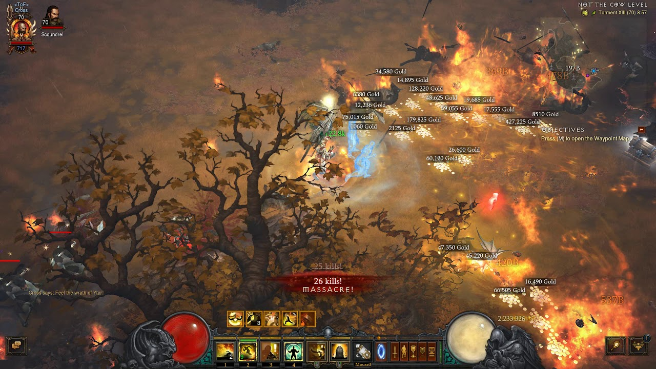 how to get cow lvl in diablo 3