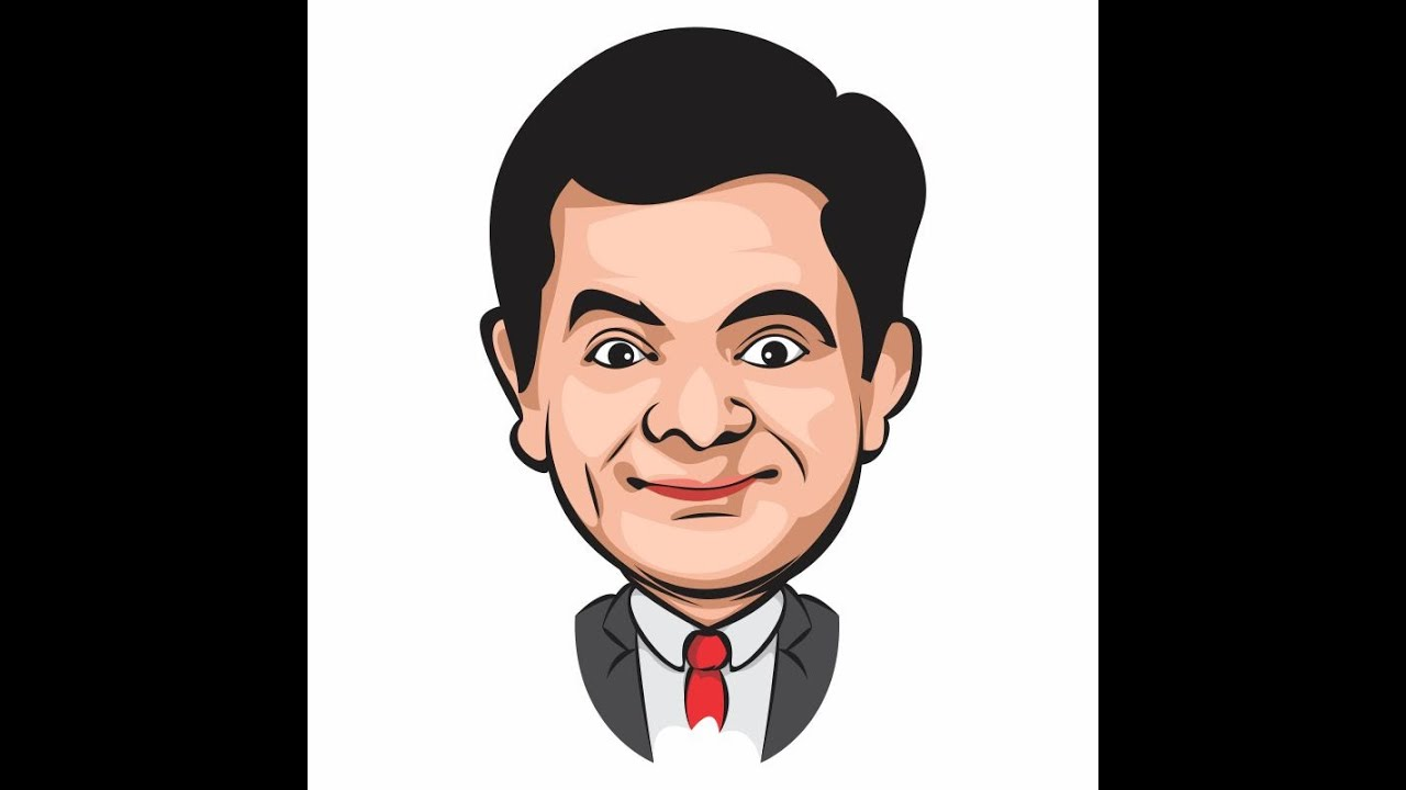 Line Art Coreldraw Tutorial : How to draw vector art in corel mr bean youtube