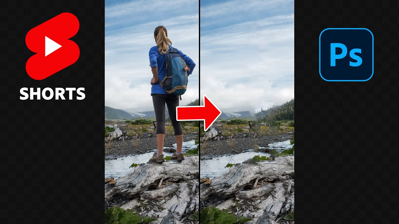 Remove a Person From a Photo in Photoshop! #shorts