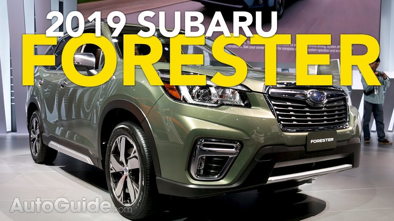 2019 Subaru Forester First Look 2018 New York Auto Show Youtube