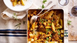 Alpro Recipe -  Oven Roasted Potato And Celeriac With Herbes De Provence