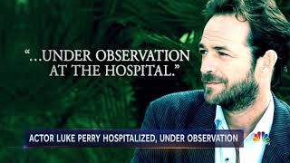 "Luke Perry hospitalized in California - ""Beverly Hills, 90210"""