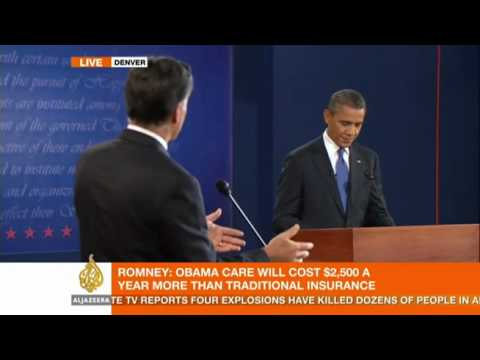 Obama and Romney debate US healthcare