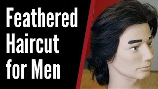 Feathered Haircut for Men - TheSalonGuy