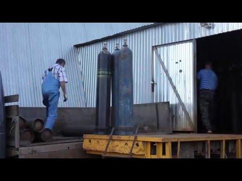 Погрузка и транспортировка баллонов 40 л