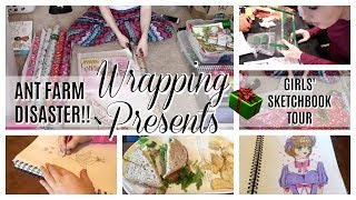 DAY IN THE LIFE | Wrapping Christmas Presents, Ant Farm DISASTER, Thanksgiving Plans & Panera | DITL