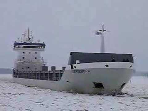 General cargo ship Veerseborg arriving Kantvik, Finland