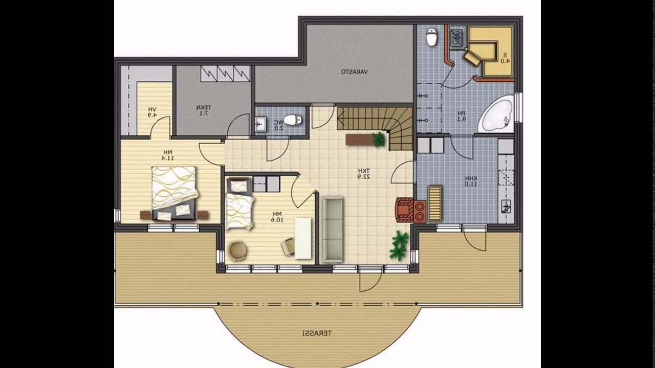 Modern Small House Plans - YouTube