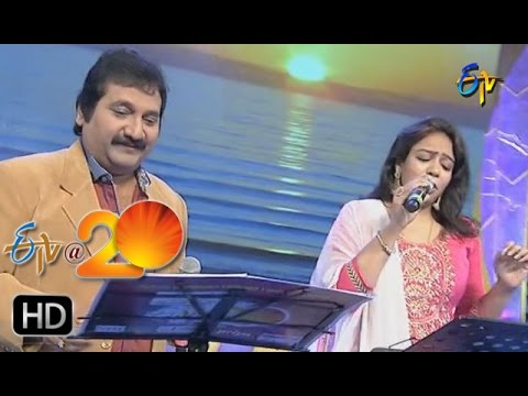 Mano,Srilekha Performance - Malli Malli Idi Rani Roju Song in Anantapur ETV @ 20 Celebrations