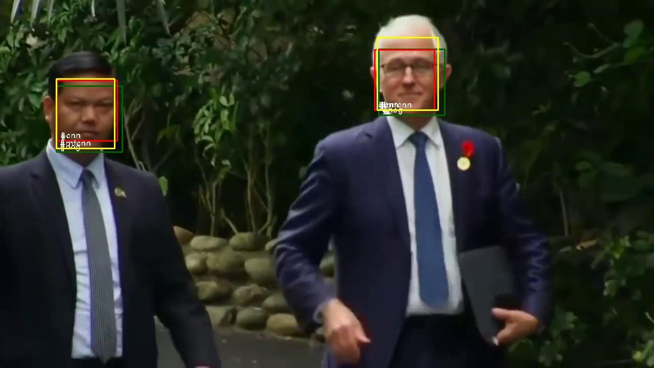 Comparison Face detection methods (MTCNN, dlib HOG and CNN version)