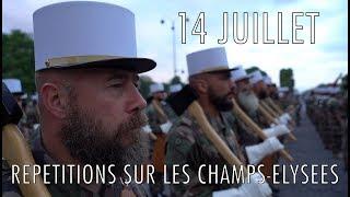 Répétitions sur les Champs-Elysées